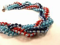 ALL Pearls! Multi-strand, Cross-weave Bracelet Kit with SWAROVSKI® ELEMENTS Red/ Lapis/Turquoise